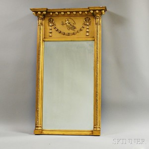 Federal-style Gilt Tabernacle Mirror