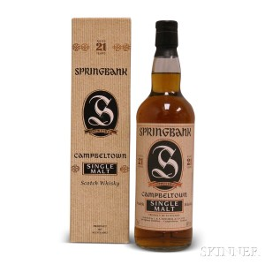 Springbank 21 Years Old, 1 700ml bottle (oc)