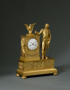 Sold for: $112,575 - Neoclassical Ormolu French Mantel Clock for the American Market