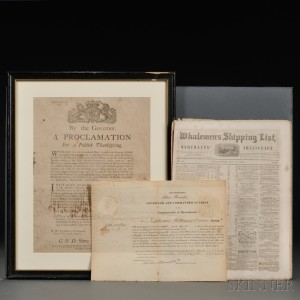By the Governor. A Proclamation for a Publick Thanksgiving