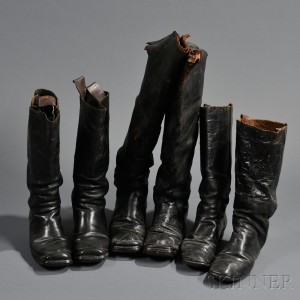 Three Pairs of Civil War-era Boots