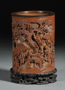 Sold for: $539,500 - Bamboo Brush Pot