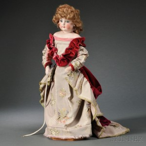 French Bisque Socket Head Fashion Doll