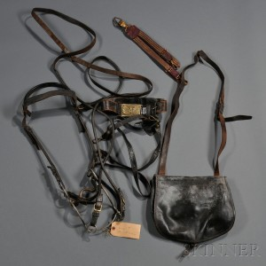 Reins, Bit, and Belt of General Francis S. Dodge, and a Commercial Haversack