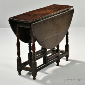 Merveilleux William And Mary Oak Gate Leg Table