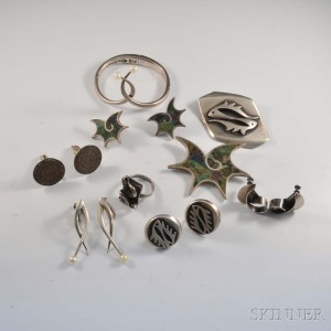 Group of Mexican Sterling Silver Jewelry