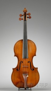 Sold for: $142,200 - Italian Violin, Ascribed to Tomasso Balestrieri, c. 1750