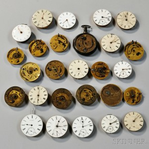 Group of English Watch Movements