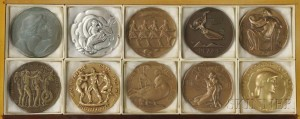 Ten Early Issues of Society of Medalists Medals