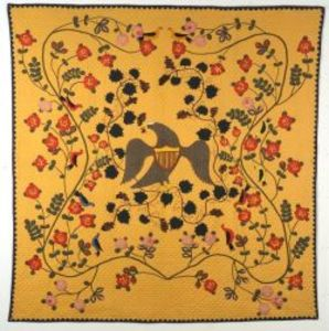 Sold for: $149,000 - Pieced and Appliqued Cotton Civil War Memorial Quilt