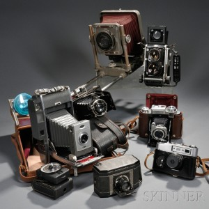 Zeiss Ikon, Mamiya, National Graflex and Three Other Cameras