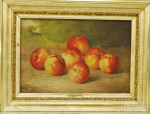 Attributed to Bryant Chapin (American, 1859-1927)    Still Life with Apples