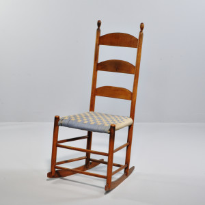 Shaker Maple Side Chair Converted to Rocking Chair