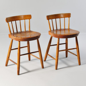 Two Shaker Low-back Dining Chairs