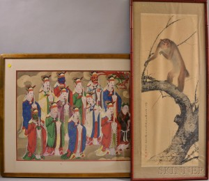 Two Framed Chinese Paintings