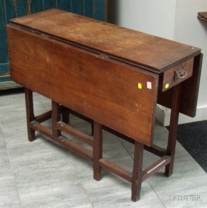 Search all lots skinner auctioneers - Gateleg table with drawers ...