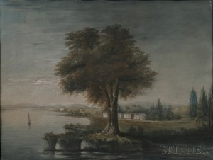 Attributed to George Beck (British/Baltimore/Philadelphia, 1748-1812)      A South View of the City of Washington.
