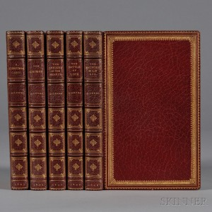 Dickens, Charles (1812-1870) Christmas Tales, First Editions, Five Volumes.