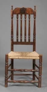 Mahogany-grained Bannister-back Side Chair