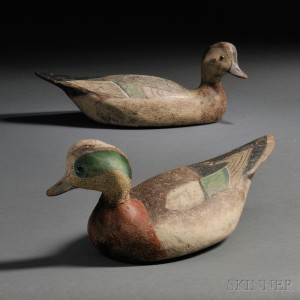 Sold for: $132,000 - Pair of Rare Ward Brothers Widgeon Decoys