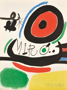 Joan Miró (Spanish, 1893-1983)      Poster for the Exhibition Tres Libros, Osaka