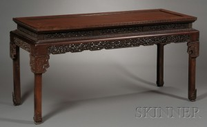 Sold for: $26,070 - Rosewood Table