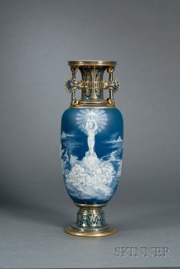 Sold for: $52,140 - Mintons Louis Solon Decorated Pate-sur-Pate Vase