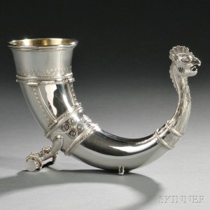 Sterling Silver Viking-style Drinking Horn