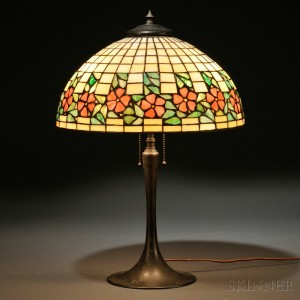 Search all lots skinner auctioneers mosaic glass table lamp attributed to unique art glass and metal co aloadofball Images