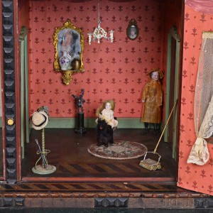 Small Group of Dolls and Dollhouse Accessories