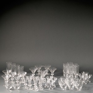 Approximately Forty-nine Steuben Glassware Items