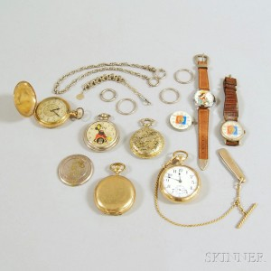 Miscellaneous Group of Pocket Watches and Wristwatches
