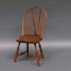 Bow Back Brace Back Windsor Side Chair