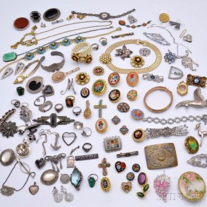 Group of Vintage and Contemporary Costume and Sterling Silver Jewelry