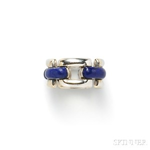 18kt White Gold and Lapis Ring, Mauboussin