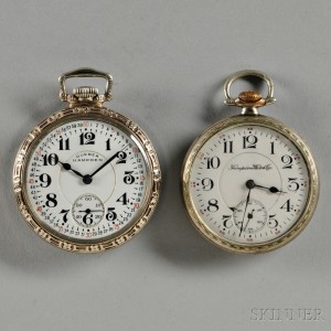 Hampden Model 104 and 105 Open-face Watches