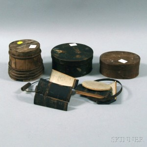 Four Small Wooden Items