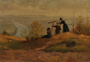 James Wells Champney (American, 1843-1903)      View from Mount Sugarloaf, South Deerfield, Massachusetts.