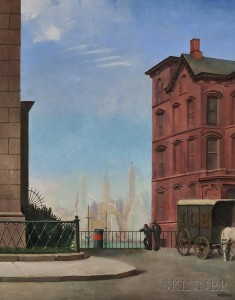 Harry Lane (American, 1891-1973)      Death and Transfiguration / A Scene in Brooklyn Heights, New York