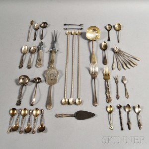 Approximately Forty-four Mostly Sterling Silver Flatware Items