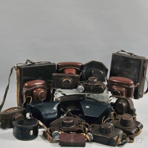 Collection of Miscellaneous Camera Cases and Straps