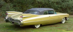 Sold for: $44,063 - *1959 Cadillac Convertible Series 62 Deville, Vin # 59F417463
