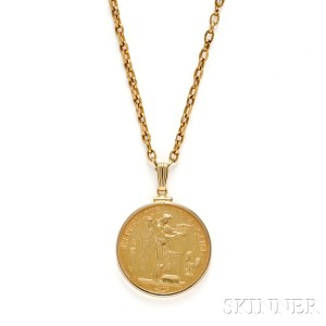 Search all lots skinner auctioneers french gold coin pendant necklace mozeypictures Images
