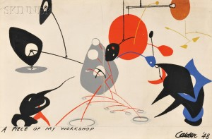 After Alexander Calder (American, 1898-1976)      A Piece of my Workshop