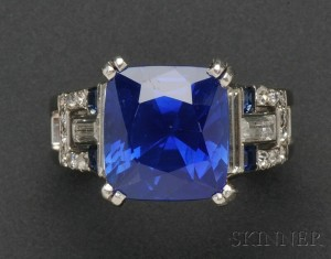 Sold for: $369,000 - Kashmir Sapphire Ring