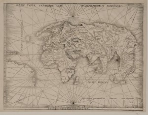 Sold for: $33,180 - (Maps and Charts, World Projection, 16th Century)