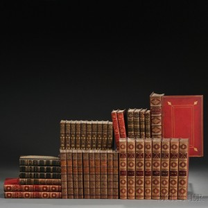 Decorative Leather Bindings, Forty-one Volumes.