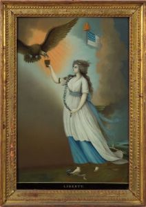 Sold for: $336,000 - Chinese School, 19th Century, After Edward Savage (American, 1761-1817),    LIBERTY.