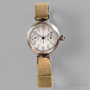 Silver U.S. WWI Trench Chronograph