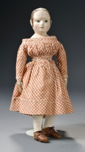 Sold for: $15,000 - Izannah Walker Cloth Doll